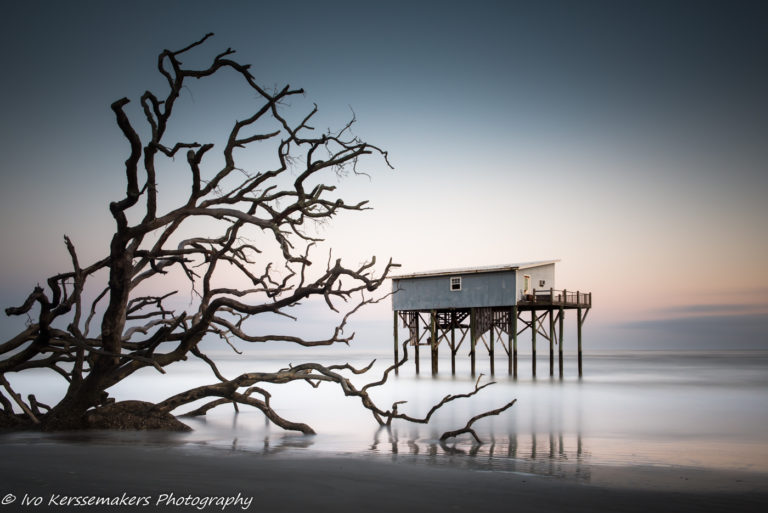 Ivo Kerssemakers, Long Exposure, Hunting Island, Little Blue, Sunset, South Carolina