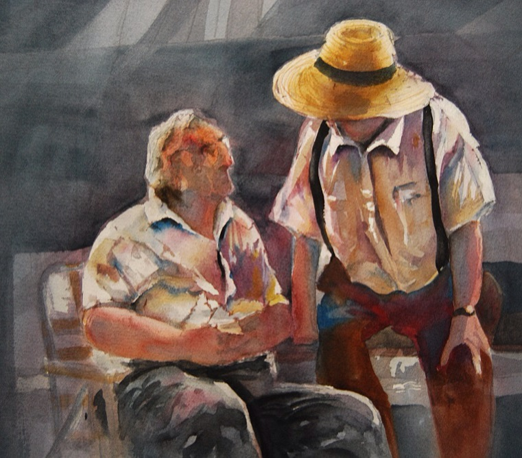 Hank Pulkowski, watercolor